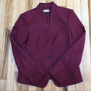 Ann Taylor Loft Berry-Colored Blazer Size 6